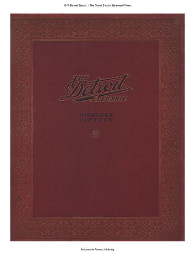 1915 Detroit Electric (31pgs)