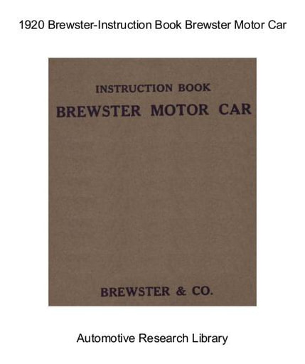 1920 Brewster   Inst  Book (24pgs)
