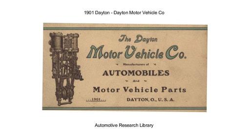 1901 Dayton Motor Vehicle Co (20pgs)