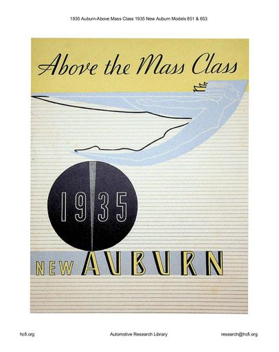 1935 Auburn   Above Mass Class Models 851 & 653 (11pgs)