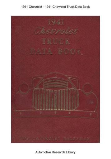 1941 Chevrolet   Truck Data Book (296pgs)