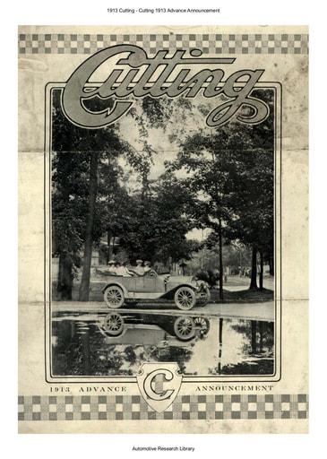 1913 Cutting   Advance Announcement (3pgs)