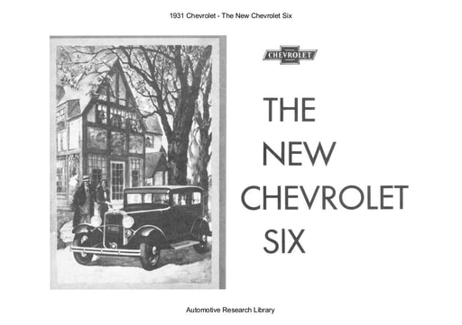 1931 Chevrolet   The New Six (18pgs)