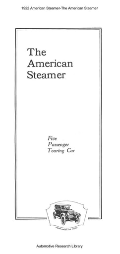 1922 American Steamer The American Steamer