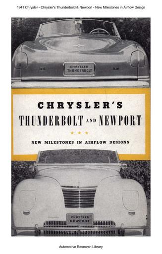 1941 Chrysler   Thunderbold & Newport (12pgs)