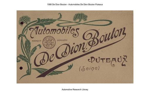 1906 De Dion Bouton   Automobiles De Dion Bouton Puteaux (13pgs)