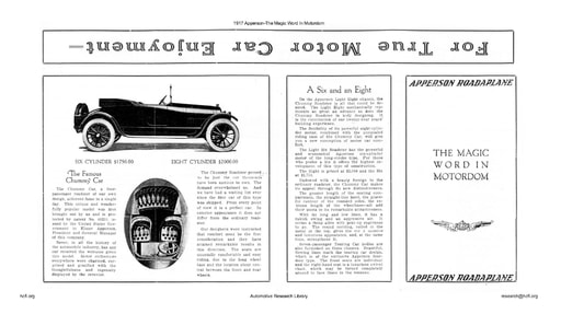 1917 Apperson   The Magic Word In Motordom (2pgs)
