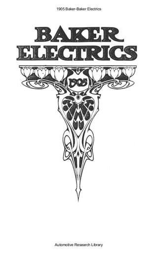 1905 Baker   Electrics (7pgs)