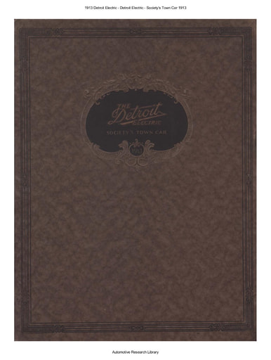 1913 Detroit Electric   Society's Town Car (37pgs)