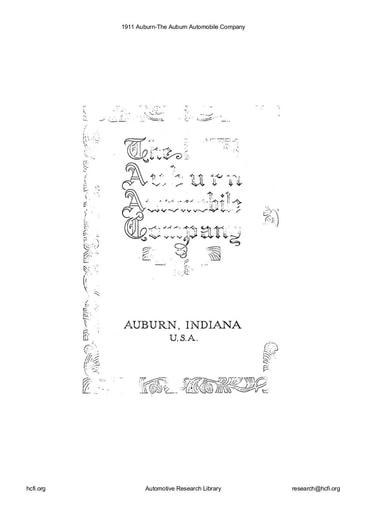 1911 Auburn Automobile Co (10pgs)