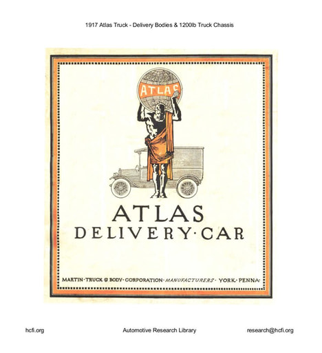 1917 Atlas Truck   Delivery Bodies & 1200lb Truck Chassis (18pgs)