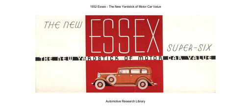 1932 Essex   The New Yardstick of Motor Car Value (15pgs)