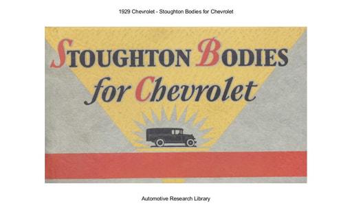 1929 Chevrolet   Stoughton Bodies (33pgs)