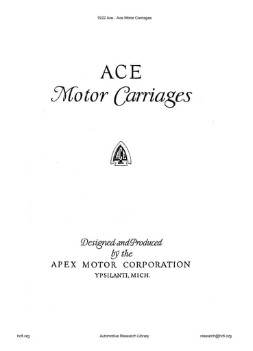 1922 Ace Carriages (16pgs)