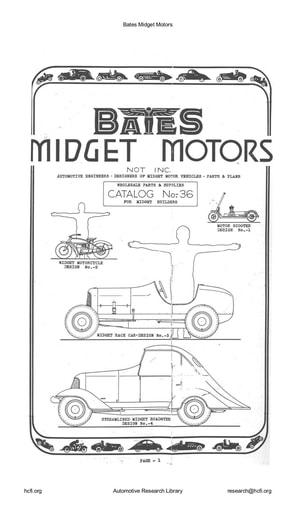 Bates   Midget Motors Cat  No  36 (8pgs)