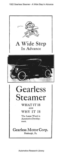 1922 Gearless Steamer   A Wide Step In Advance (30pgs)