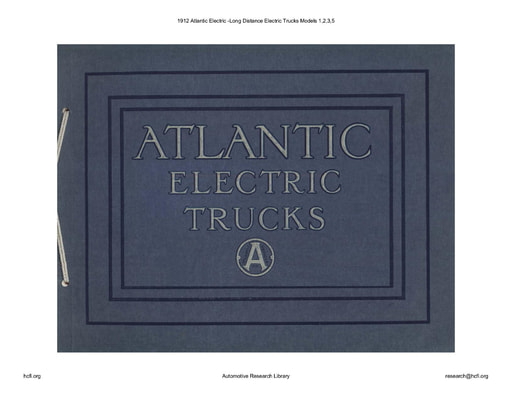 1912 Atlantic Electric  Long Distance Electric Trucks Mod  1,2,3,5 (31pgs)