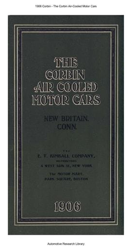 1906 Corbin   Air Cooled Motor Cars (25pgs)