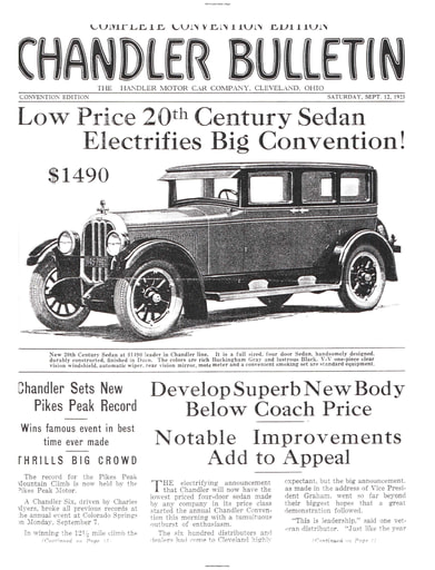 1925 Chandler Bulletin (15pgs)