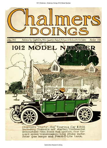 1911 Chalmers   Chalmers Doings 1912 Model Number (20pgs)