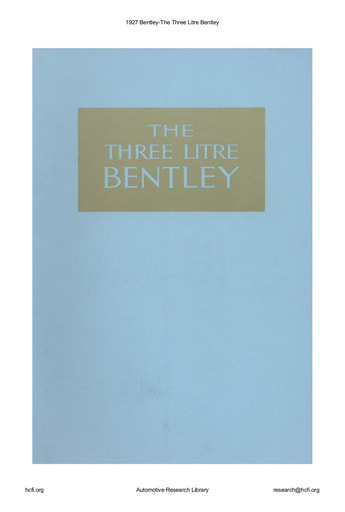 1927 Bentley   The Three Litre (23pgs)