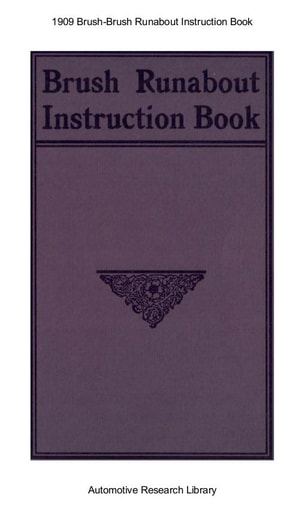 1909 Brush   Instruction Book (28pgs)