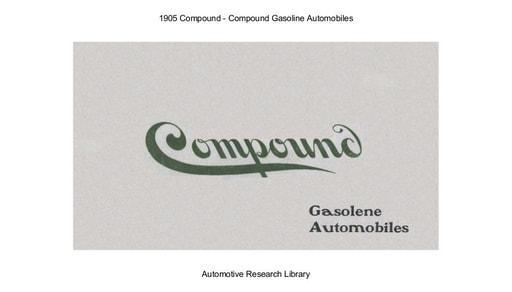 1905 Compound Gasoline Automobiles (13pgs)