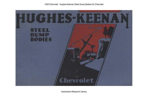 1930 Chevrolet   Hughes Keenan Steel Dump Bodies (26pgs)