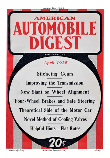 American Automobile Digest - 1925 April