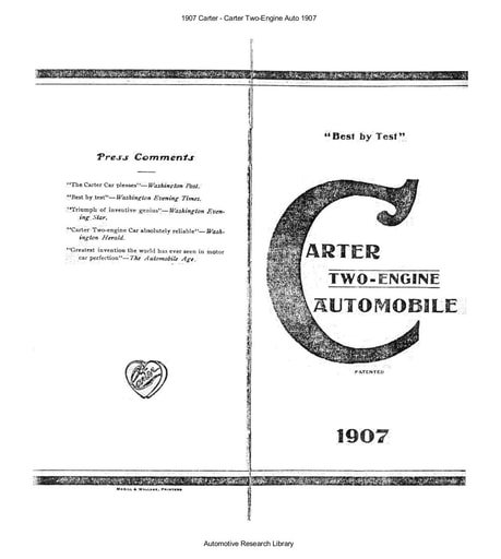 1907 Carter   Two Engine Auto (11pgs)
