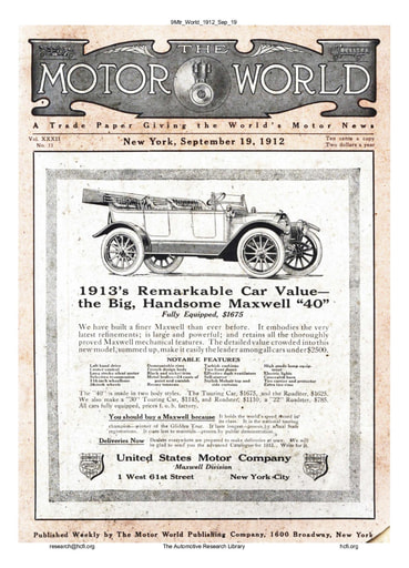 The Motor World 1912 Sep 19