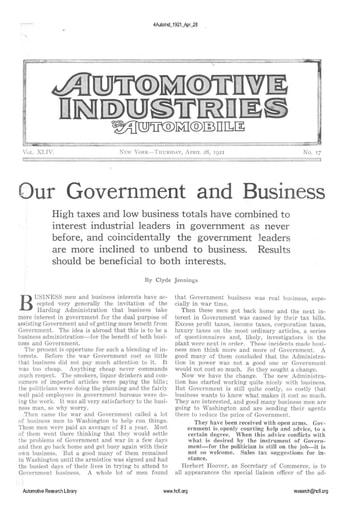 Auto Industries 1921 04 28