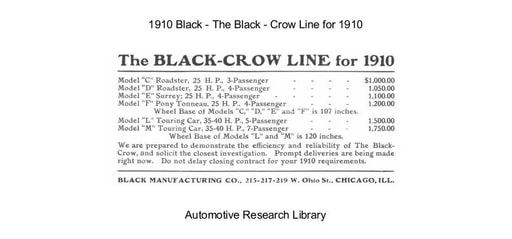 1910 Black   Crow Line (6pgs)