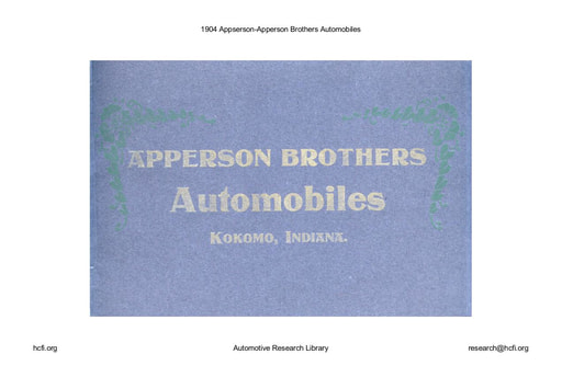 1904 Appserson   Apperson Brothers (25pgs)