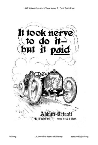 1912 Abbott Detroit   It Took Nerve (22pgs)