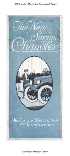 1920 Chandler   Mechanical Description & Specs (7pgs)