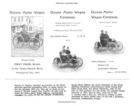 1896 Duryea Motor Wagon (2pgs)