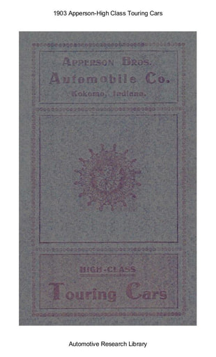 1903 Apperson   High Class Touring Cars (11pgs)
