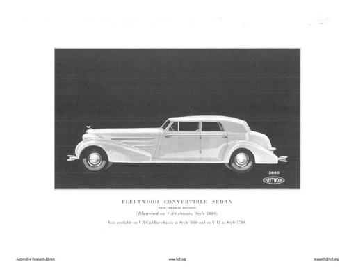 1934 Cadillac   Fleetwood Convertable Sedan (10pgs)