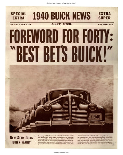 1940 Buick News   Foreword for Forty (4pgs)