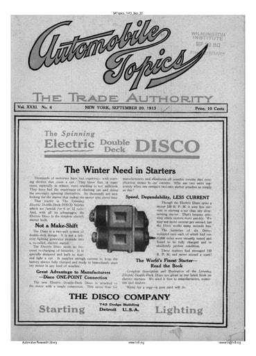 Auto Topics | 1913 Sep 20