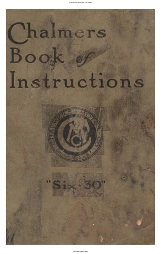 1918 Chalmers   Book of Inst  6 30 (54pgs)