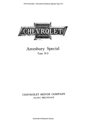1915 Chevrolet   Amesbury Special Type H 3 (4pgs)