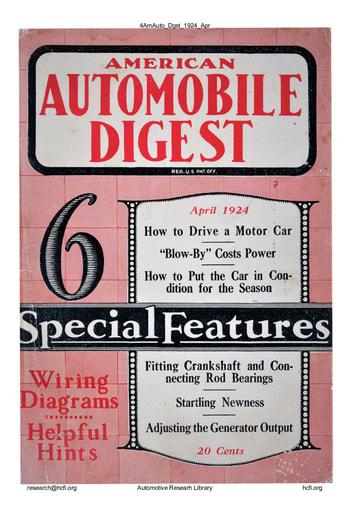 American Automobile Digest - 1924 April