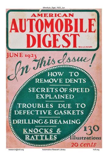 American Automobile Digest - 1923 June
