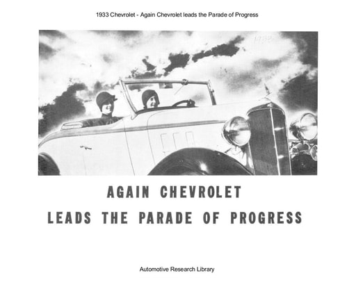 1933 Chevrolet   Again leads the Parade of Progress (27pgs)