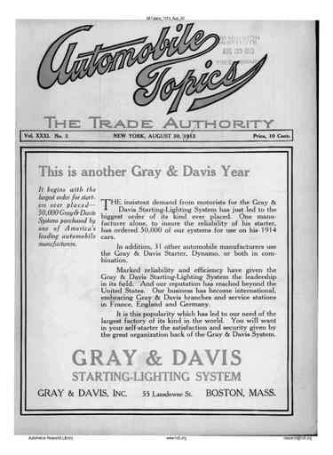 Auto Topics | 1913 Aug 30