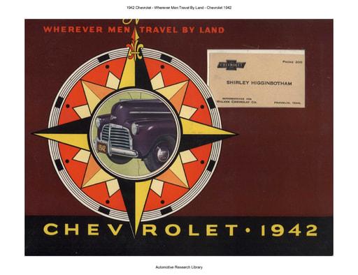 1942 Chevrolet   Wherever Men Travel By Land (83pgs)