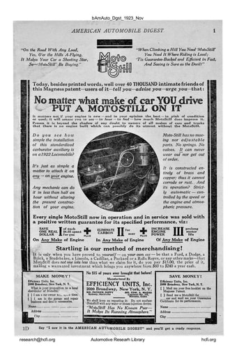 American Automobile Digest - 1923 November