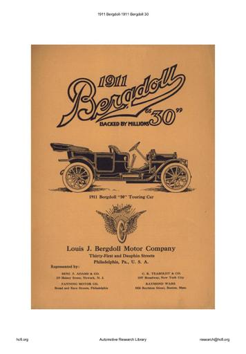 1911 Bergdoll   30 (6pgs)